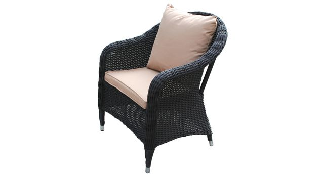 villa cabana wicker high back chair with arms